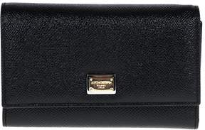 Dolce & Gabbana Medium Leather Wallet With Flap - BLACK - STYLE