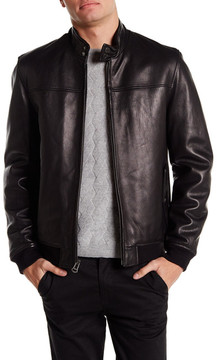 Cole Haan Smooth Genuine Leather Barracuda Jacket