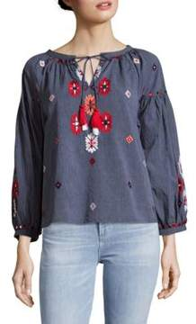 Kas Elora Embroidered Cotton Blouse