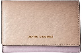 Marc Jacobs Saffiano Color Blocked Multi Wallet Wallet Handbags - PALE PINK MULTI - STYLE