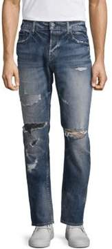 Hudson Sartor Slouchy Skinny Distressed Jeans