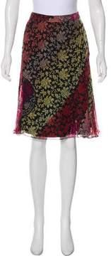 Christian Lacroix Silk Floral Skirt