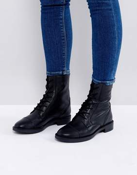 Asos ANYWHERE Leather Lace Up Boots