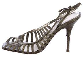 Sergio Rossi Snakeskin Cage Pumps