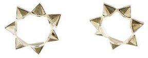 Amrapali Pyrite Spike Twisted Hoop Earrings