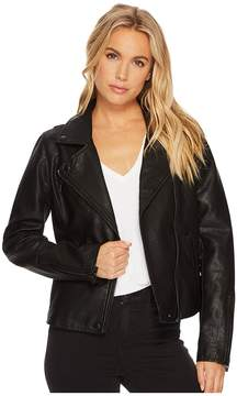 Blank NYC Black Vegan Leather Jacket in Onyx Women's Coat