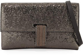 Brunello Cucinelli Broken Glass-Effect Wallet On A Chain
