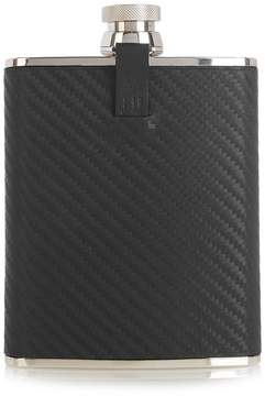 Dunhill Chassis leather and stainless-steel hip flask