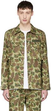 Rag & Bone Green Camo Flight Shirt Jacket