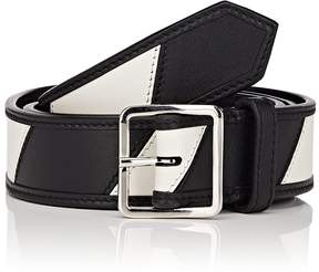 Calvin Klein Men's Striped Leather Belt