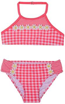 Hula Star Toddler Girl's Picnic Gingham Two-Piece Swimsuit