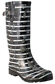 NOMAD Rubber Rain Boots - Puddles Stripes