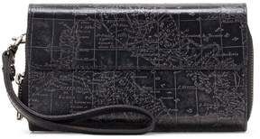 Patricia Nash Metallic Embossed Map Collection Cecita Wristlet