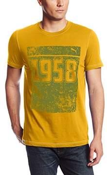 Puma Year Tee Graphic Tee - Team Yellow Brazil - Mens - S
