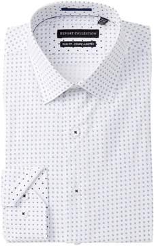 Report Collection Geo Print Slim Fit Dress Shirt