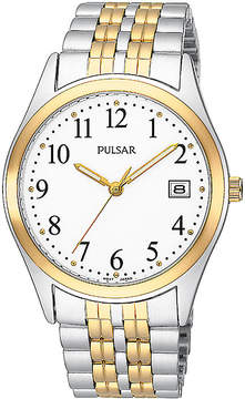 Pulsar Mens Two-Tone Stainless Steel Watch PXH448