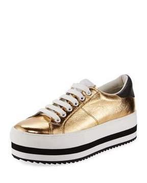 Marc Jacobs Grand Platform Metallic Low-Top Sneaker