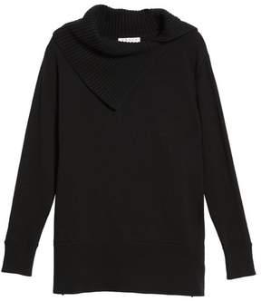 Chaus Split Cowl Neck Sweater