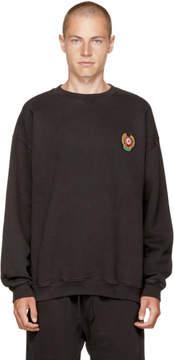 Yeezy Black Crest Logo Calabasas Sweatshirt