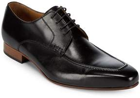 Matteo Massimo Men's Square Toe Leather Derby Shoes