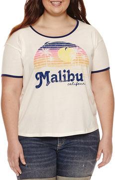 Fifth Sun Malibu Graphic T-Shirt- Juniors Plu