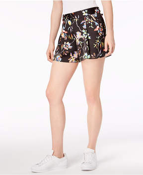 Bar III Floral Print Pleated Shorts, Created for Macy's
