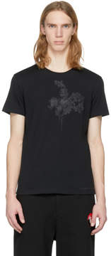 Alexander McQueen Black Embroidered Skull T-Shirt