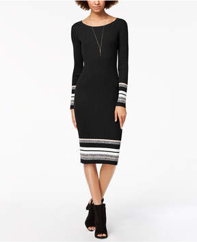 Bar III Ribbed-Knit Midi Sweater Dress, Created for Macy's