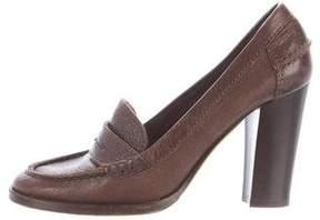 Michael Kors Leather Loafer Pumps