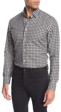 Brioni Gingham Check Cotton Shirt
