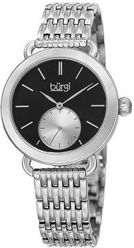 Burgi Black Dial Ladies Casual Watch