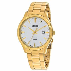 Seiko Classic SUR054P1 Men's Round Gold Stainless Steel Watch