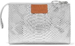 MM6 MAISON MARGIELA Metallic Croc-Effect Faux Leather Pouch