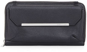 BCBGMAXAZRIA Tricia Pebbled Leather Crossbody Wallet