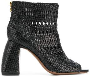 L'Autre Chose weaved open toe boots