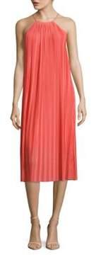 Cynthia Steffe Quinn Halterneck Pleated Dress