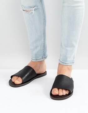 Aldo Lovaviel Leather Sliders in Black