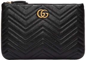 Gucci Black GG Marmont 2.0 Pouch