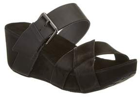 Chocolat Blu Madge Suede Wedge Sandal.