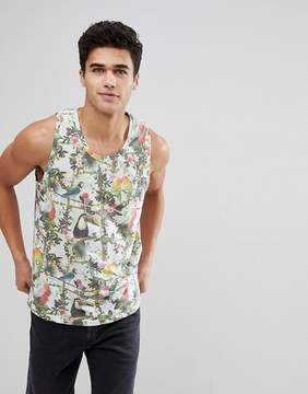 Solid Tropical Bird Print Tank