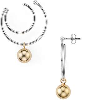 Argentovivo Two-Tone Double Hoop Earrings