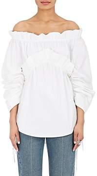 Cédric Charlier Women's Cotton Poplin Off-The-Shoulder Top