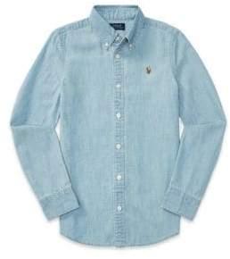 Ralph Lauren Little Girl's& Girl's Chambray Button-Down Shirt