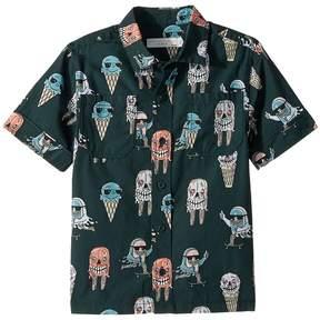 Stella McCartney Rowan Ice Cream Monster Print Button-Down Shirt Boy's Clothing