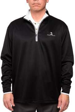 DAY Birger et Mikkelsen Men's Pebble Beach Classic-Fit Brushed Interlock Quarter-Zip Performance Golf Pullover Sweater