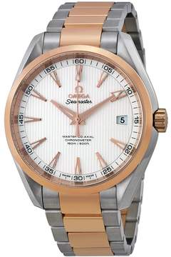 Omega Aqua Terra Automatic Silver Dial Steel and 18kt Rose Gold Men's Watch