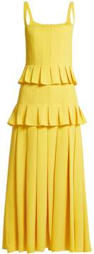 Carolina Herrera Ruffle-trimmed pleated dress