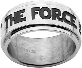 Star Wars FINE JEWELRY The Force Mens Stainless Steel Spinner Ring