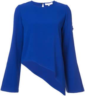 IRO asymmetric hem blouse