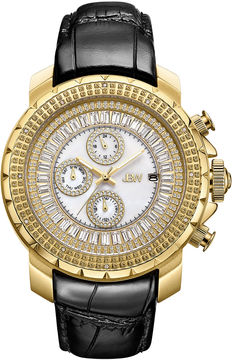 JBW Diamond Mens Black Strap Watch-J6347l-B
